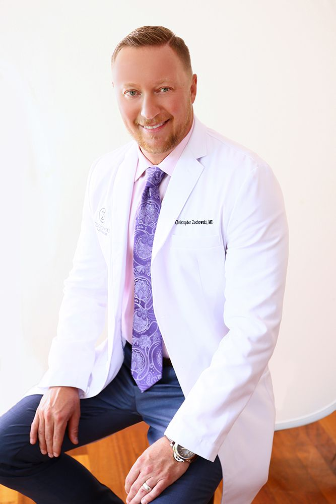 Dr. Christopher Zochowski of Columbus OH in white lab coat