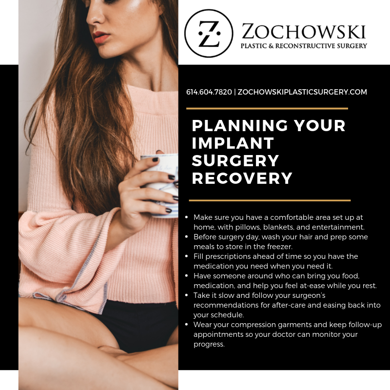 breast implant recovery poster